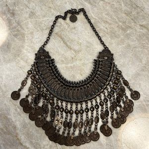 Free People chunky - layers of vintage coins